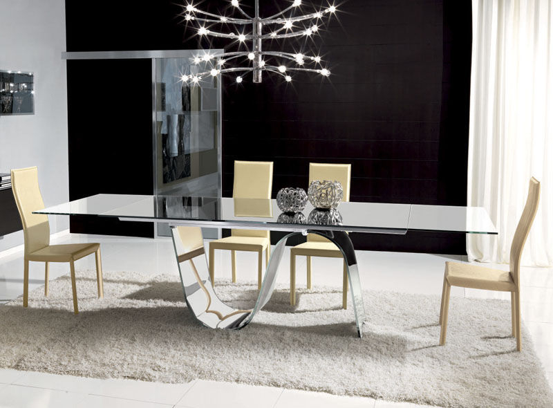 Contemporary Dining Table / Tempered Glass / Rectangular In Contemporary Rectangular Dining Tables (View 6 of 25)
