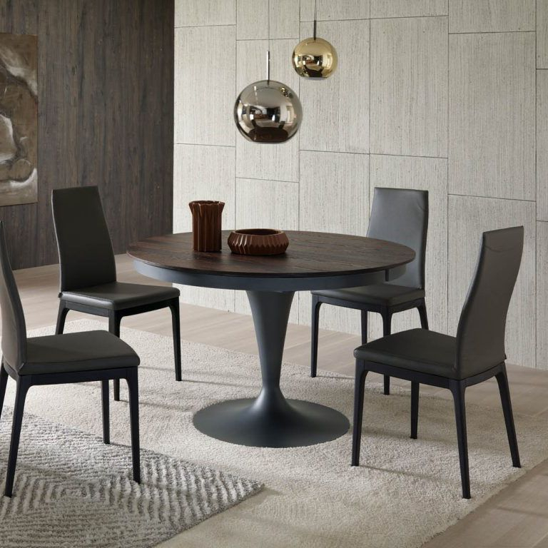 Contemporary Dining Table / Wooden / Metal / Round Eclipse T315Studio Ozeta Ozzio Italia For Eclipse Dining Tables (View 2 of 25)