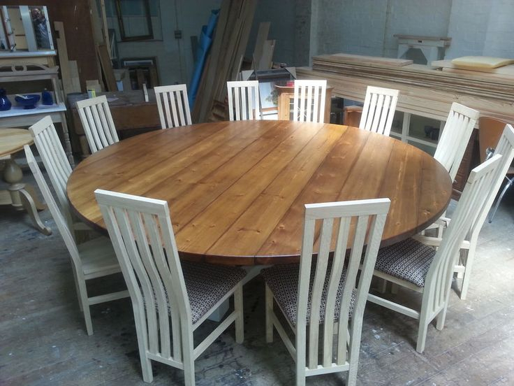 Contemporary Large Round Dining Table Seat 10 Maitland Smith With Regard To 8 Seater Wood Contemporary Dining Tables With Extension Leaf (View 8 of 25)