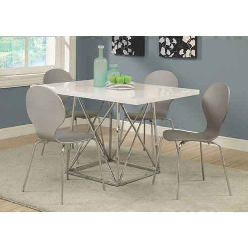 Contemporary Rectangular Dining Table – White Regarding Contemporary Rectangular Dining Tables (View 10 of 25)