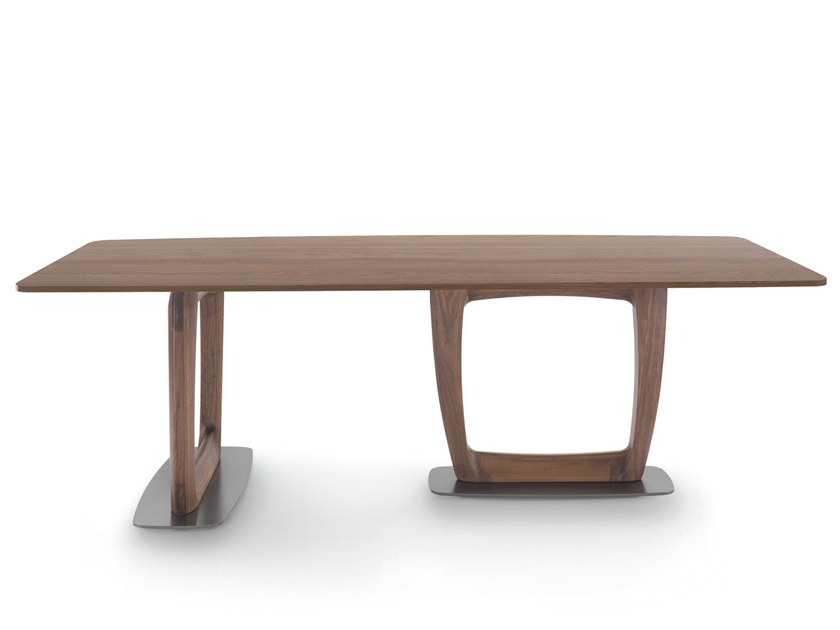 Contemporary Style Rectangular Ash Dining Table Aaron For Dining Tables With Stained Ash Walnut (Image 4 of 25)