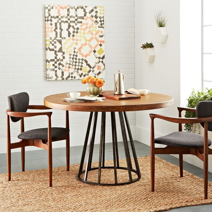 Copenhagen Reclaimed Wood Round Dining Table | Round Wood In Small Round Dining Tables With Reclaimed Wood (View 4 of 25)