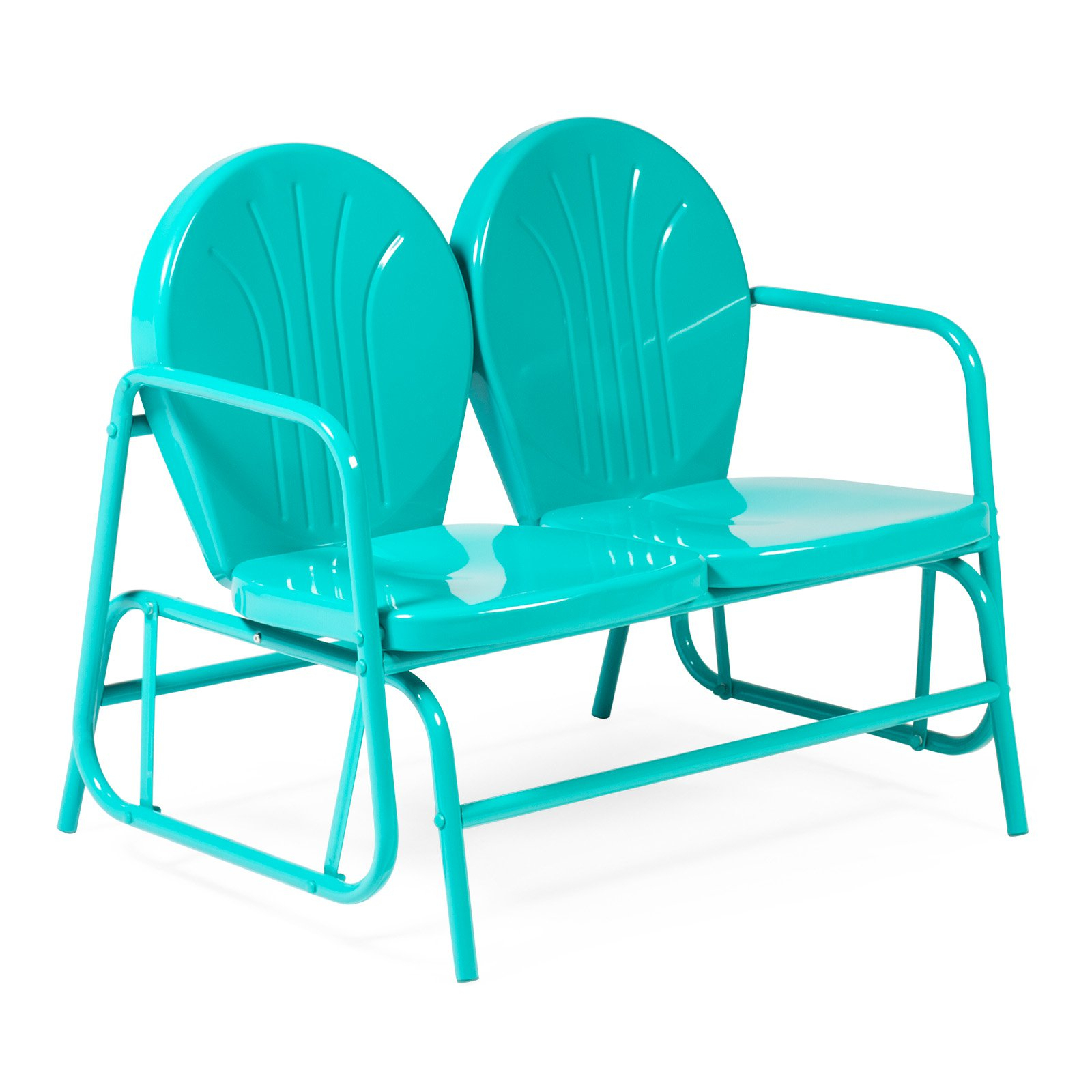 Coral Coast Vintage Retro Double Glider – Walmart Inside Outdoor Retro Metal Double Glider Benches (View 7 of 25)