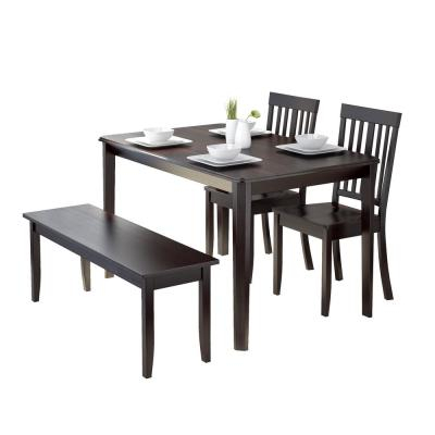 Corliving Atwood 4 Piece Dining Set With Cappuccino Stained Pertaining To Atwood Transitional Rectangular Dining Tables (View 11 of 25)