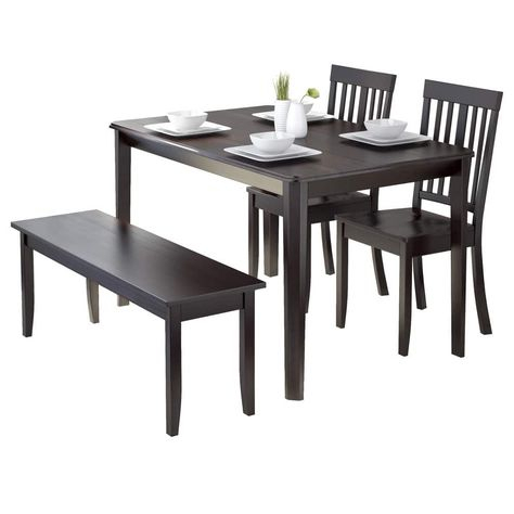 Corliving Drg 695 Z6 Atwood 4 Piece Dining Set With Regarding Atwood Transitional Square Dining Tables (View 3 of 25)