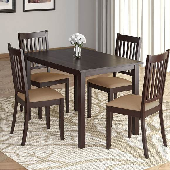 Corliving Drg 795 Z Atwood 5 Piece Dining Set, With Beige Microfiber Seats With Atwood Transitional Rectangular Dining Tables (View 23 of 25)