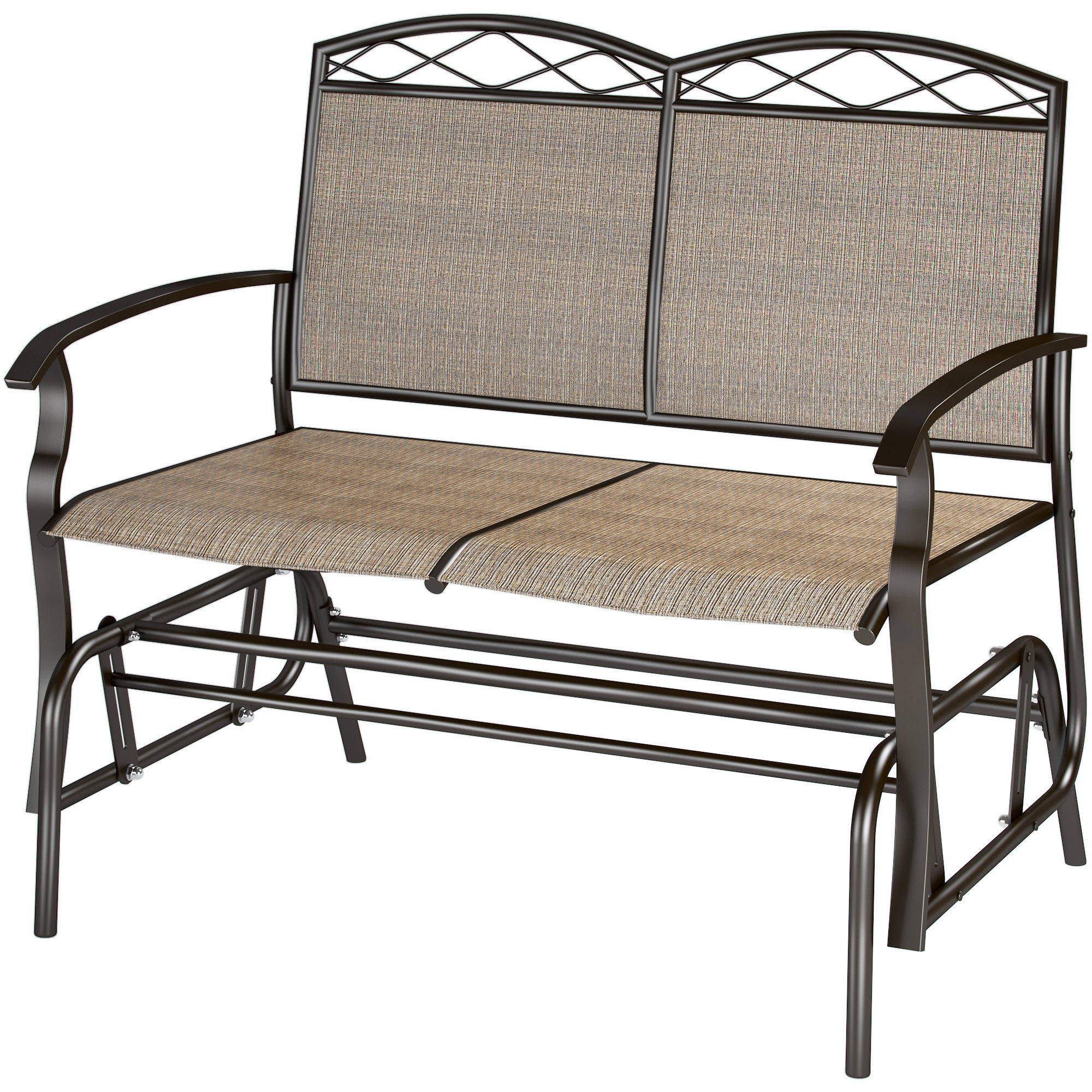 Corliving Speckled Brown Patio Double Glider – Walmart With Regard To Speckled Glider Benches (View 5 of 25)