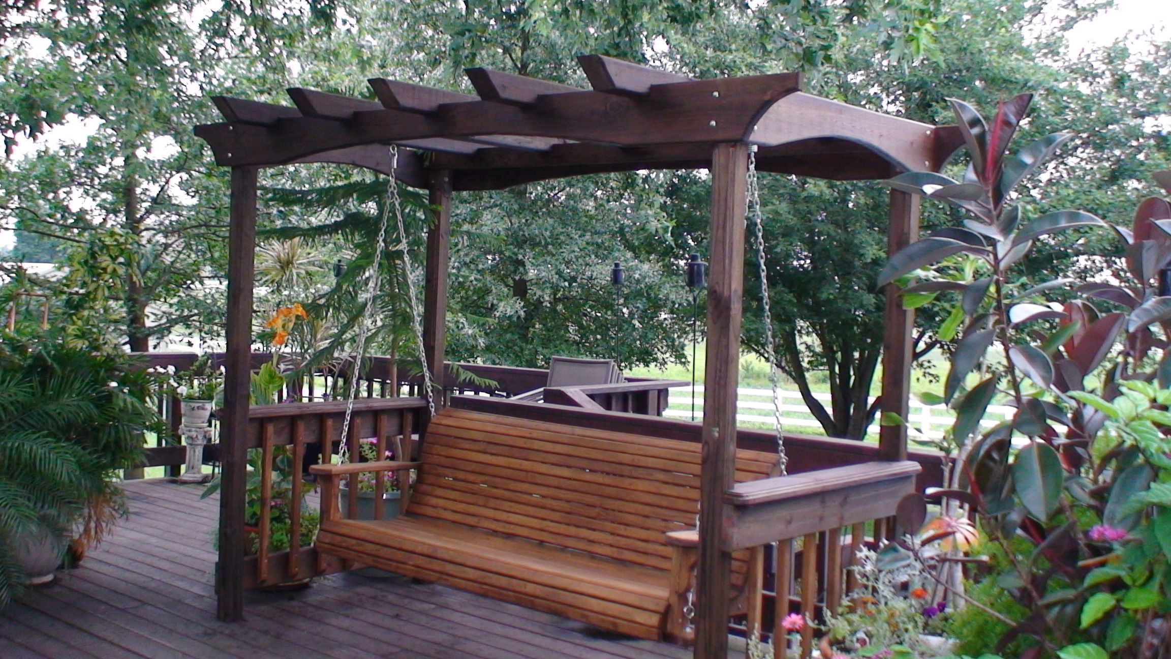 Corrupt Wooden Porch Swings And Porch Swing Stands Intended For Pergola Porch Swings With Stand (View 5 of 26)