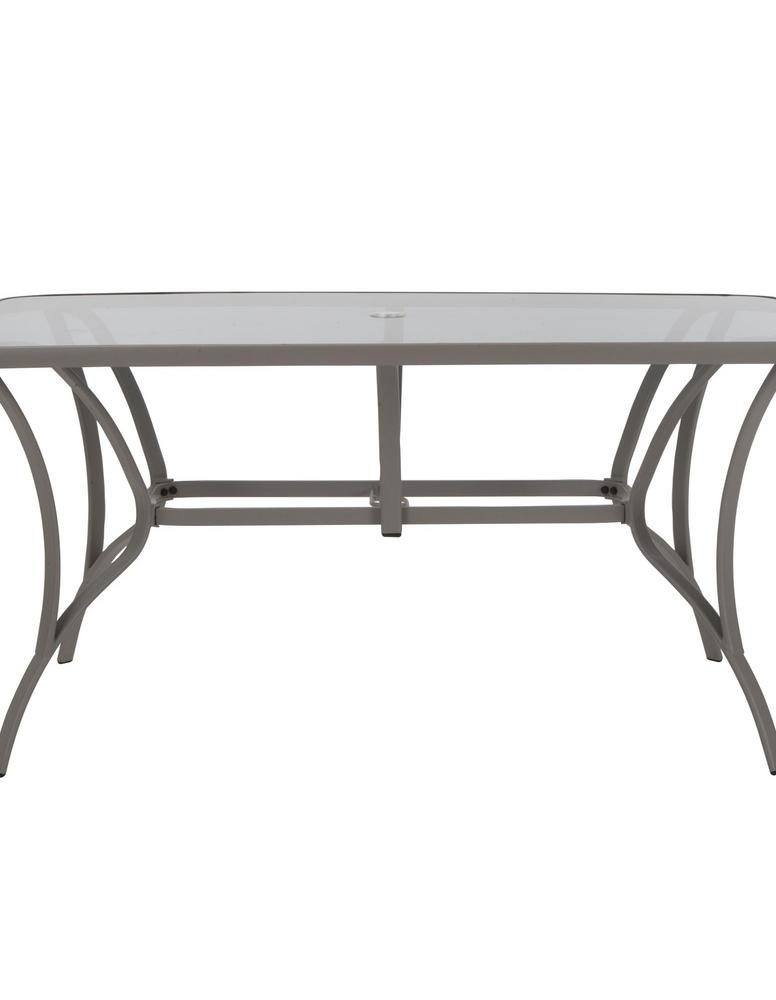 Cosco Paloma Sand Steel Outdoor Dining Table With Tempered Pertaining To Steel And Glass Rectangle Dining Tables (View 17 of 25)