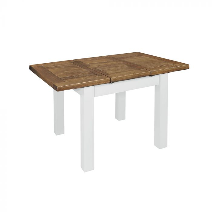 Cotswold Rustic Pine 90Cm X 90Cm Extending Dining Table In White Painted With Regard To Rustic Pine Small Dining Tables (View 18 of 25)