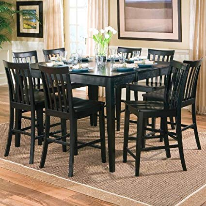 Counter Height Dining Table And Chairs Aspiration 9Pcs In Contemporary 6 Seating Rectangular Dining Tables (View 19 of 25)