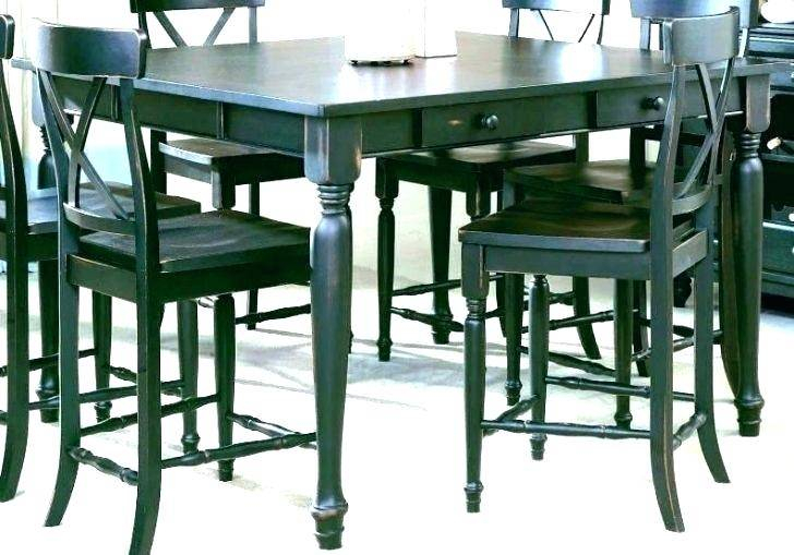 Counter High Dining Table Square For Bar Height Patio Set Intended For Patio Square Bar Dining Tables (View 5 of 25)
