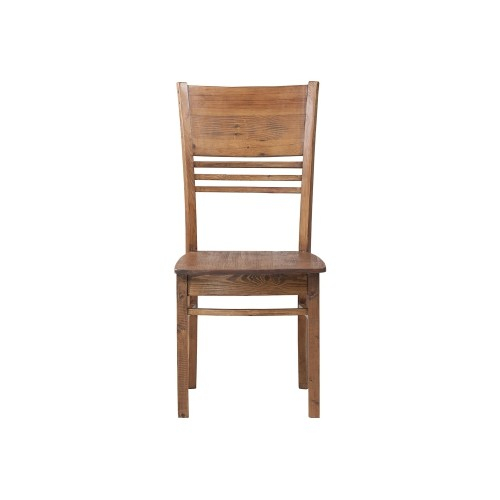 Country Dining Chair 19*21*39 Pine Wood/ Finish Weathered Pine Inside Country Dining Tables With Weathered Pine Finish (Image 7 of 25)