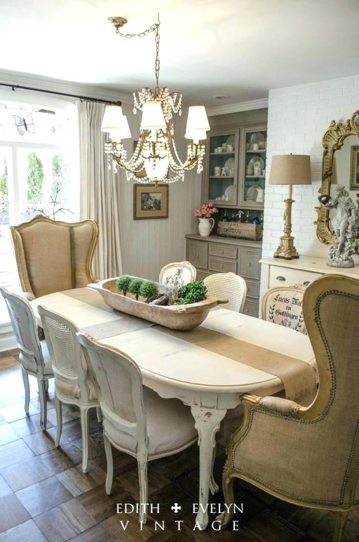 Country Dining Room Ideas French Decor – Saltandblues In Medium Elegant Dining Tables (View 9 of 25)