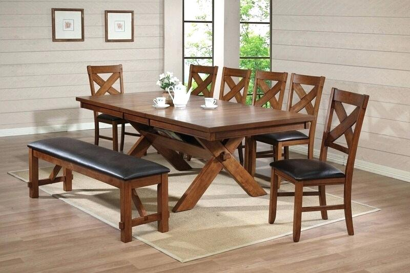 Country Dining Table Set – Worldofseeds (Image 8 of 25)
