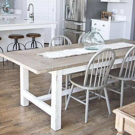 Create This Project With Americana Decor® Chalky Finish Regarding Walnut And Antique White Finish Contemporary Country Dining Tables (View 11 of 25)