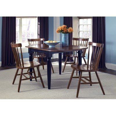 Creations Ii Casual 5 Piece Drop Leaf Dining Set In Black In Transitional Drop Leaf Casual Dining Tables (View 4 of 26)