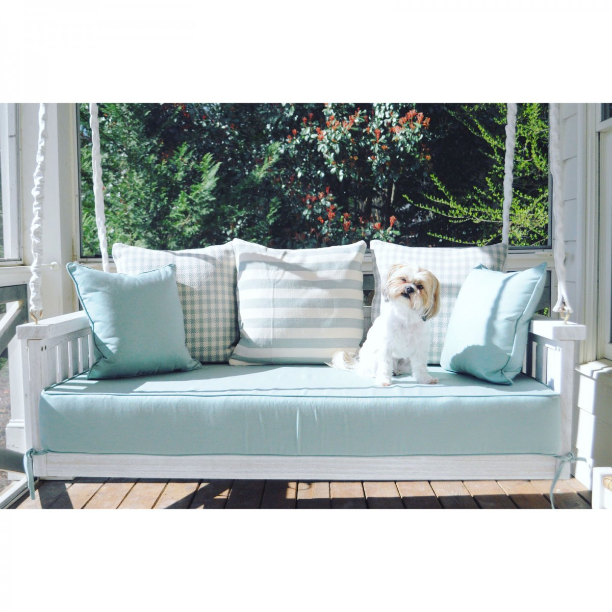 Custom Outdoor Glider / Porch Swing Cushions – Outdoor Regarding Outdoor Loveseat Gliders With Cushion (View 24 of 25)