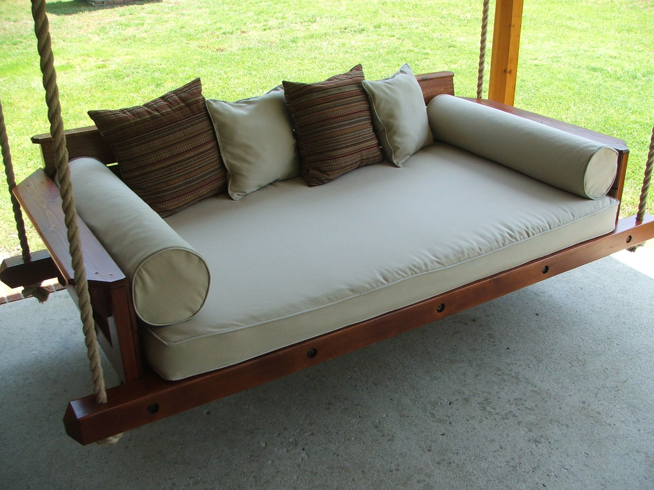 Custom Rustic Porch Bed Swingcarolina Porch Swings In Country Style Hanging Daybed Swings (View 7 of 25)