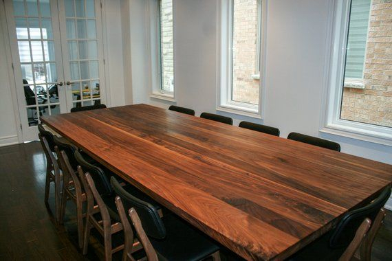 Custom Walnut Dining Table On Steel Legs – Modern Walnut With Regard To Walnut Finish Live Edge Wood Contemporary Dining Tables (Image 4 of 25)