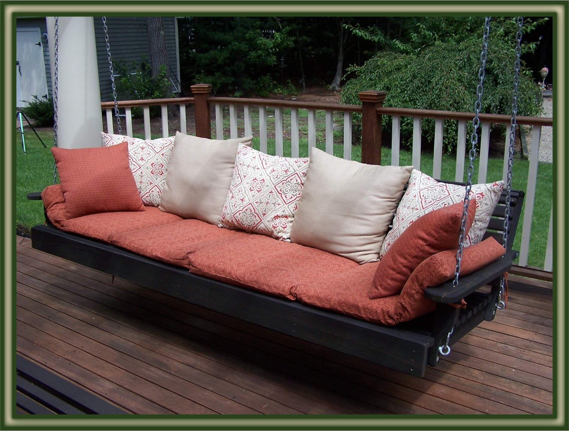 Cypress Porch Swing Bed Regarding Patio Hanging Porch Swings (View 6 of 25)