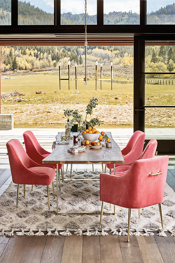 Daily Find | Anthropologie Smoked Oak Dining Table – Copycatchic With Regard To Dining Tables In Smoked Seared Oak (View 11 of 25)