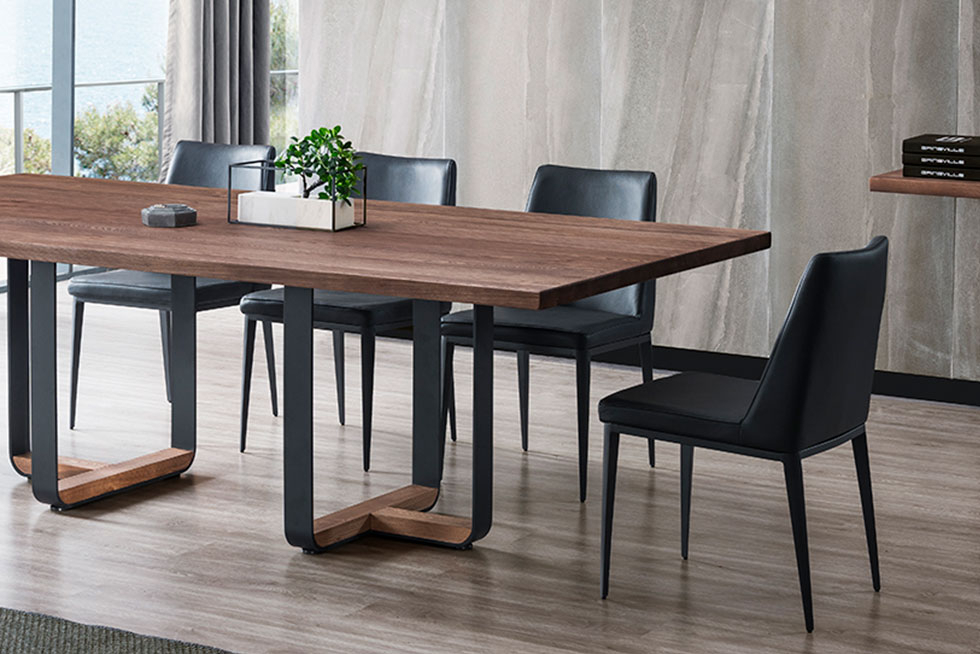 Dakota Dining Table | Gainsville Furniture Within Dining Tables With Stained Ash Walnut (View 9 of 25)