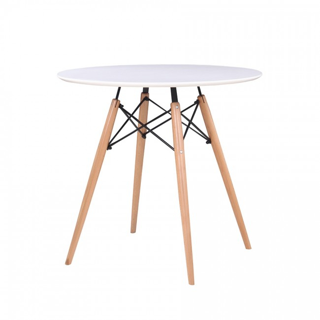 Danae Round Dining Table 80 Cm Within Eames Style Dining Tables With Wooden Legs (View 13 of 25)