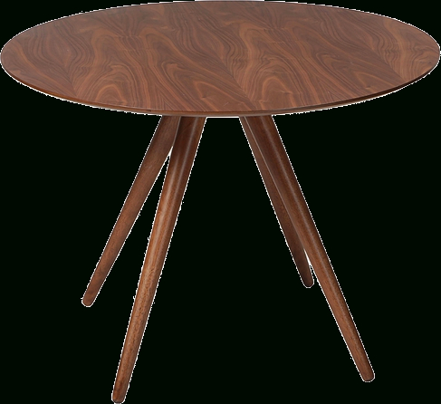 Danform Pheno Circular Dining Table In Walnut Veneer With Walnut Stained  Legs With Dining Tables With Stained Ash Walnut (Image 7 of 25)