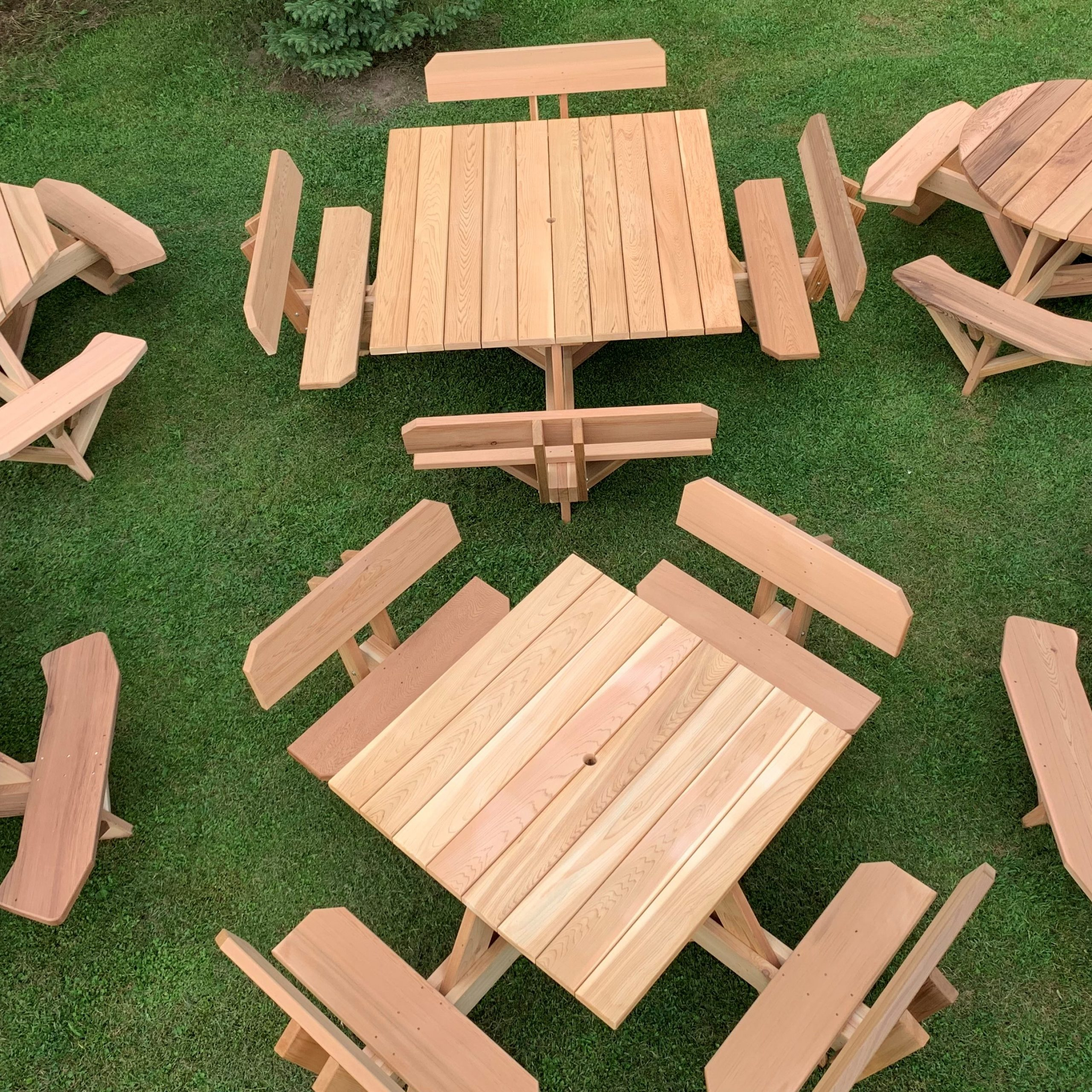 Dan's Outdoor Furniture – Handcrafted Cedar Furniture For Regarding 2 Person Natural Cedar Wood Outdoor Gliders (View 23 of 25)
