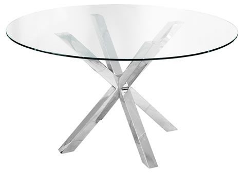 Daphene Large Glass Table 120Cm Round Dining Kitchen Table Pertaining To Glass Top Condo Dining Tables (View 6 of 25)