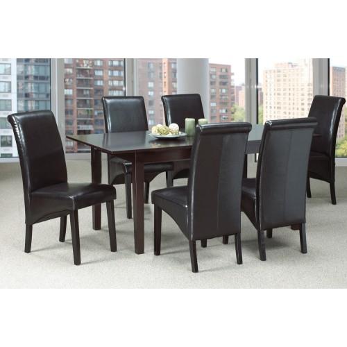 Dark Espresso Finish Wood Classic Design Dining Table With Espresso Finish Wood Classic Design Dining Tables (Image 6 of 25)
