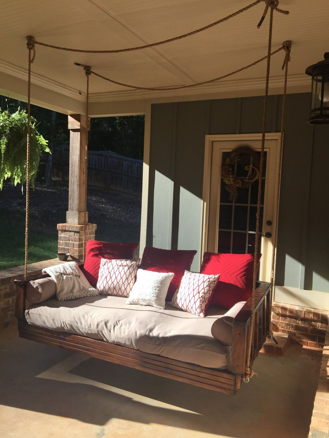 Day Bed Swing / Porch Swingdeuleydesigns On Etsy Inside Day Bed Porch Swings (View 21 of 25)