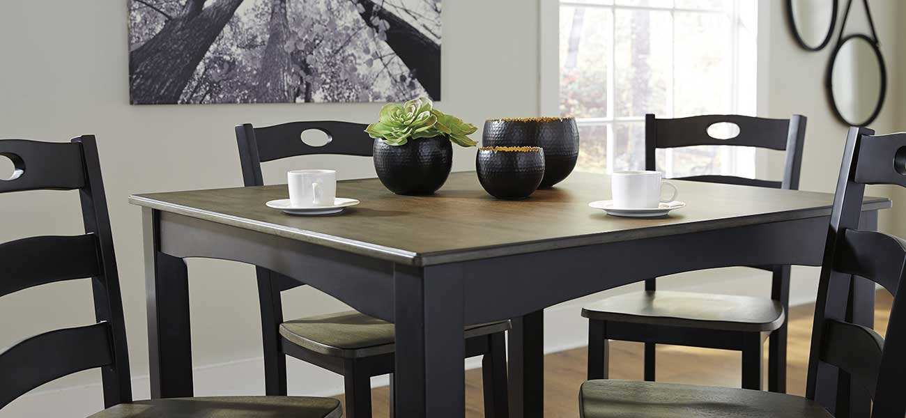 Deals On Dining Room Furniture Including Dining Tables In Regarding Transitional 4 Seating Drop Leaf Casual Dining Tables (Image 8 of 25)