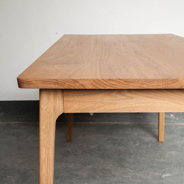 Decor8 Ando Solid Oak Wood Dining Table In 2019 | Furniture Regarding Transitional 8 Seating Rectangular Helsinki Dining Tables (Image 9 of 25)