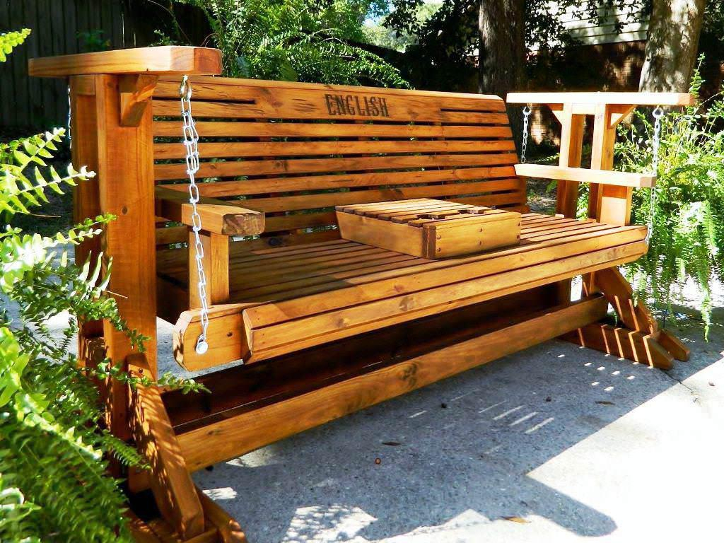 Decorating Ideas Of Porch Bench Glider — Best Room Design In Hardwood Porch Glider Benches (View 25 of 25)