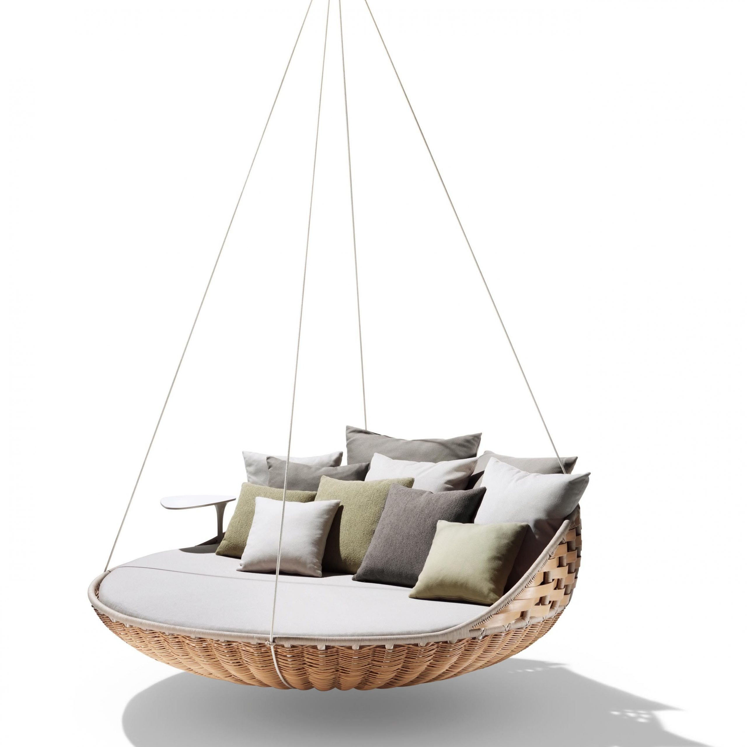Dedon Swingrest Hanging Lounger Sofa | House, Home Magazine For Outdoor Wicker Plastic Half Moon Leaf Shape Porch Swings (View 3 of 25)