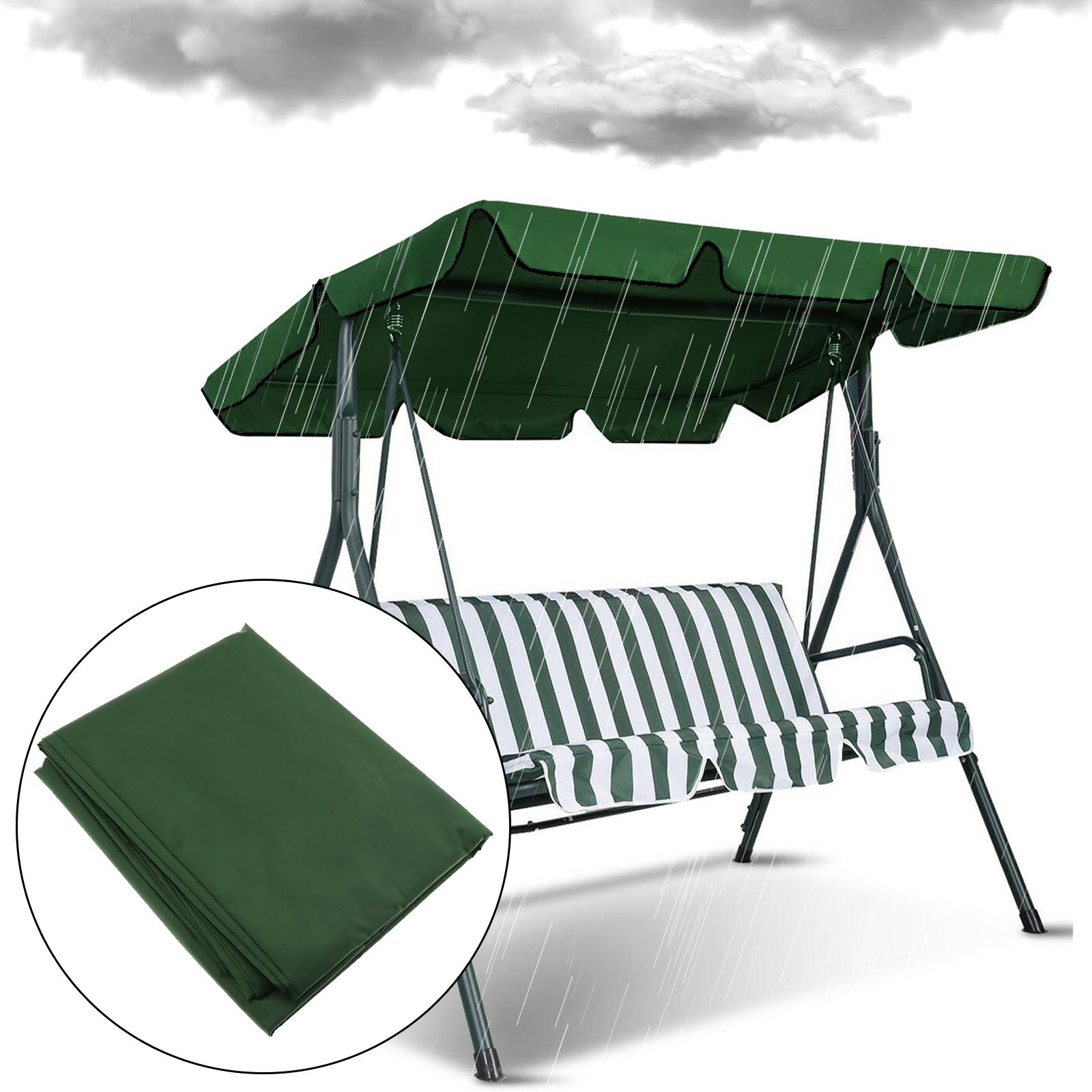Details About 2 Person Patio Garden Swing Outdoor Hammock Canopy Hanging Chair Cover Bench Within Garden Leisure Outdoor Hammock Patio Canopy Rocking Chairs (View 23 of 25)