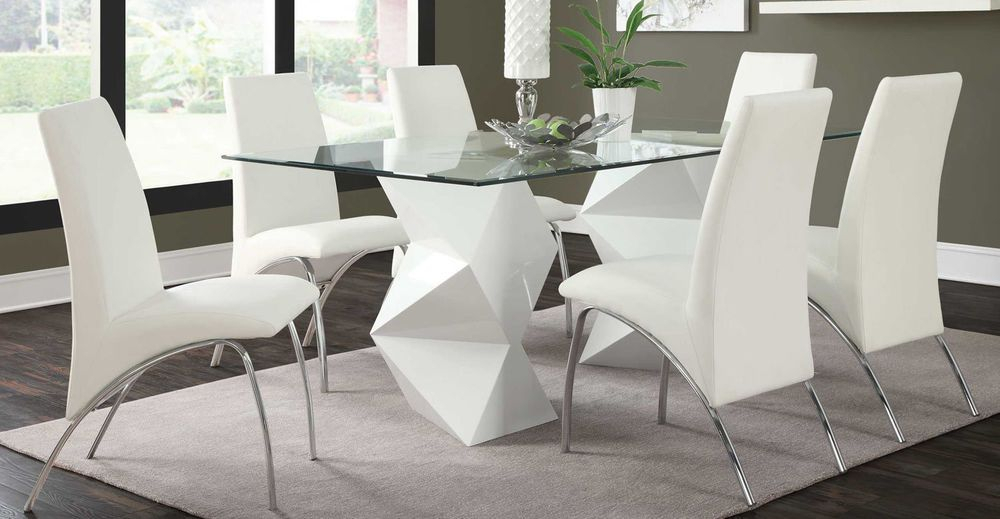 Details About 6 Piece Dining Table Chairs Bench Room Pertaining To Contemporary 6 Seating Rectangular Dining Tables (View 8 of 25)