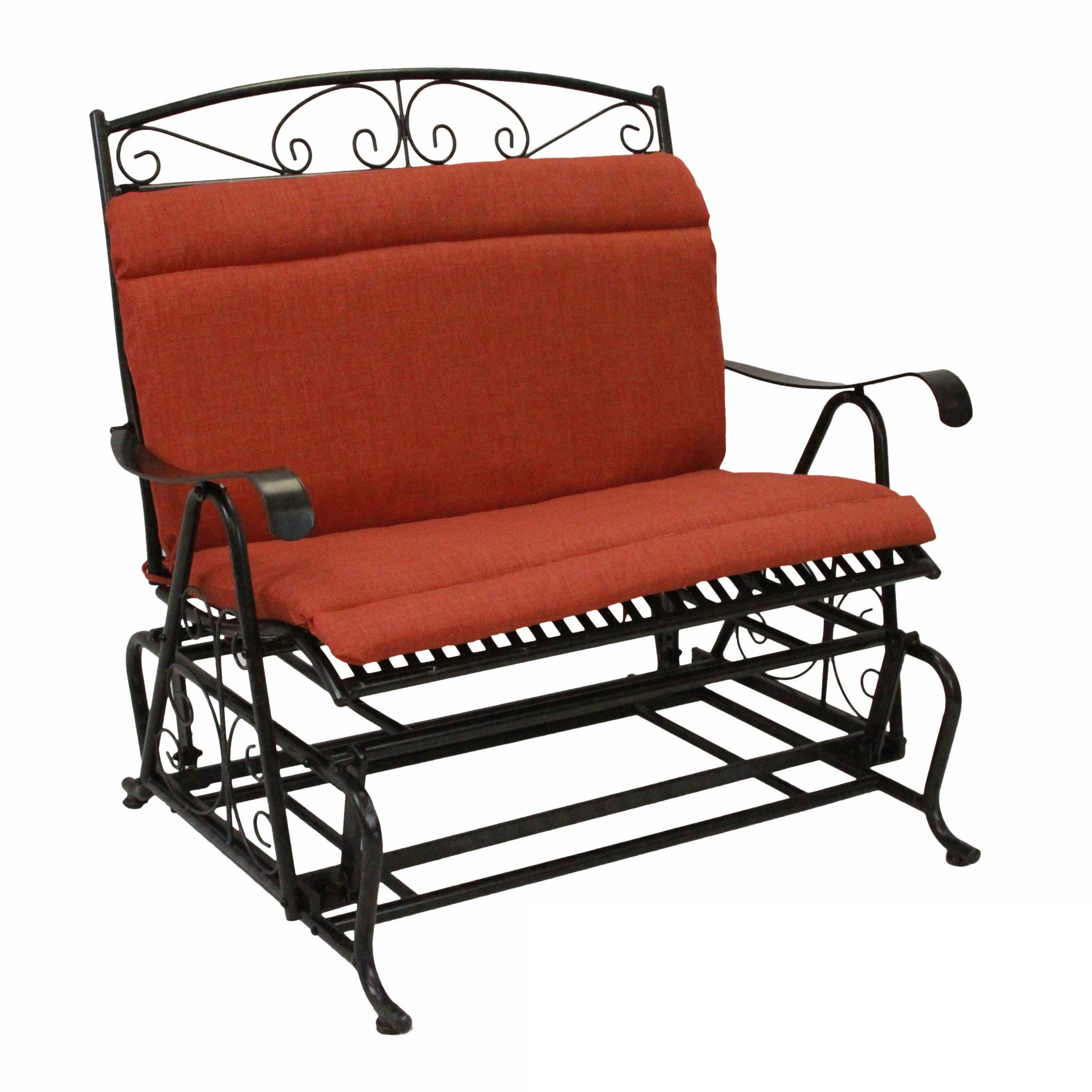Details About Blazing Needles All Weather Indoor/outdoor Double Chair Pertaining To Indoor/outdoor Double Glider Benches (View 10 of 25)
