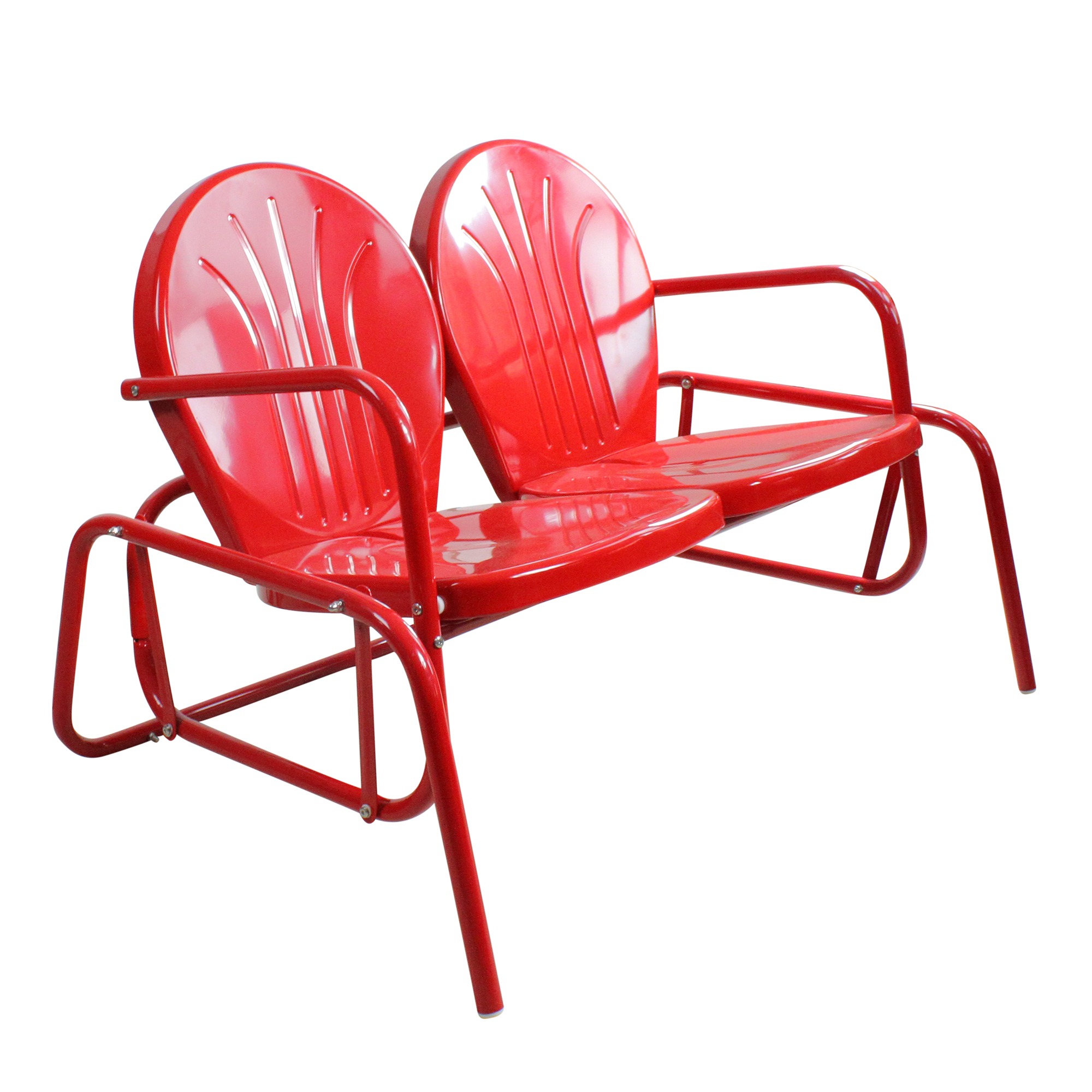 Details About Northlight Vibrant Red Retro Metal Tulip Outdoor Double Glider With Outdoor Retro Metal Double Glider Benches (View 22 of 25)