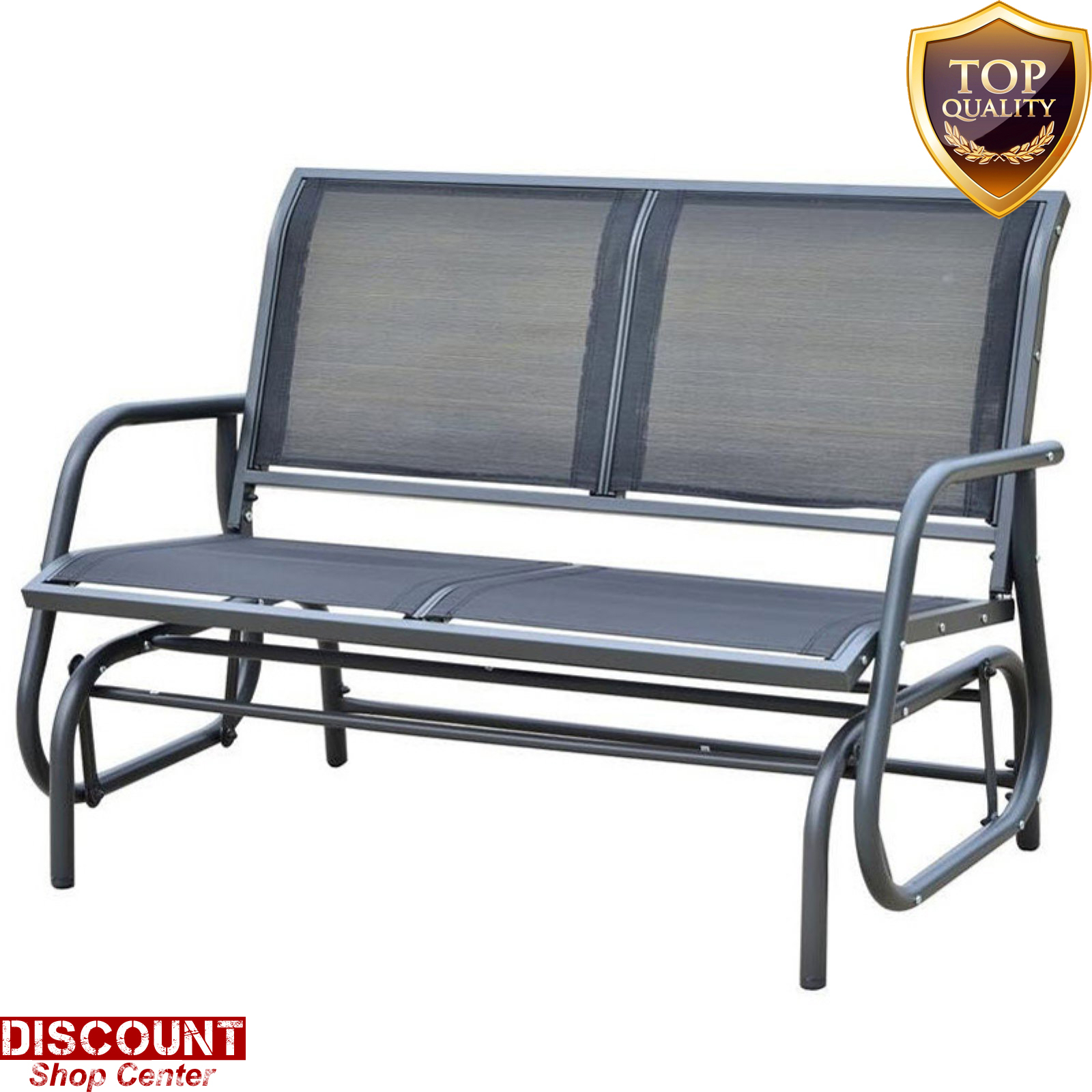 Details About Outdoor Double Glider Bench Rocking Chair 48 In (Image 10 of 25)