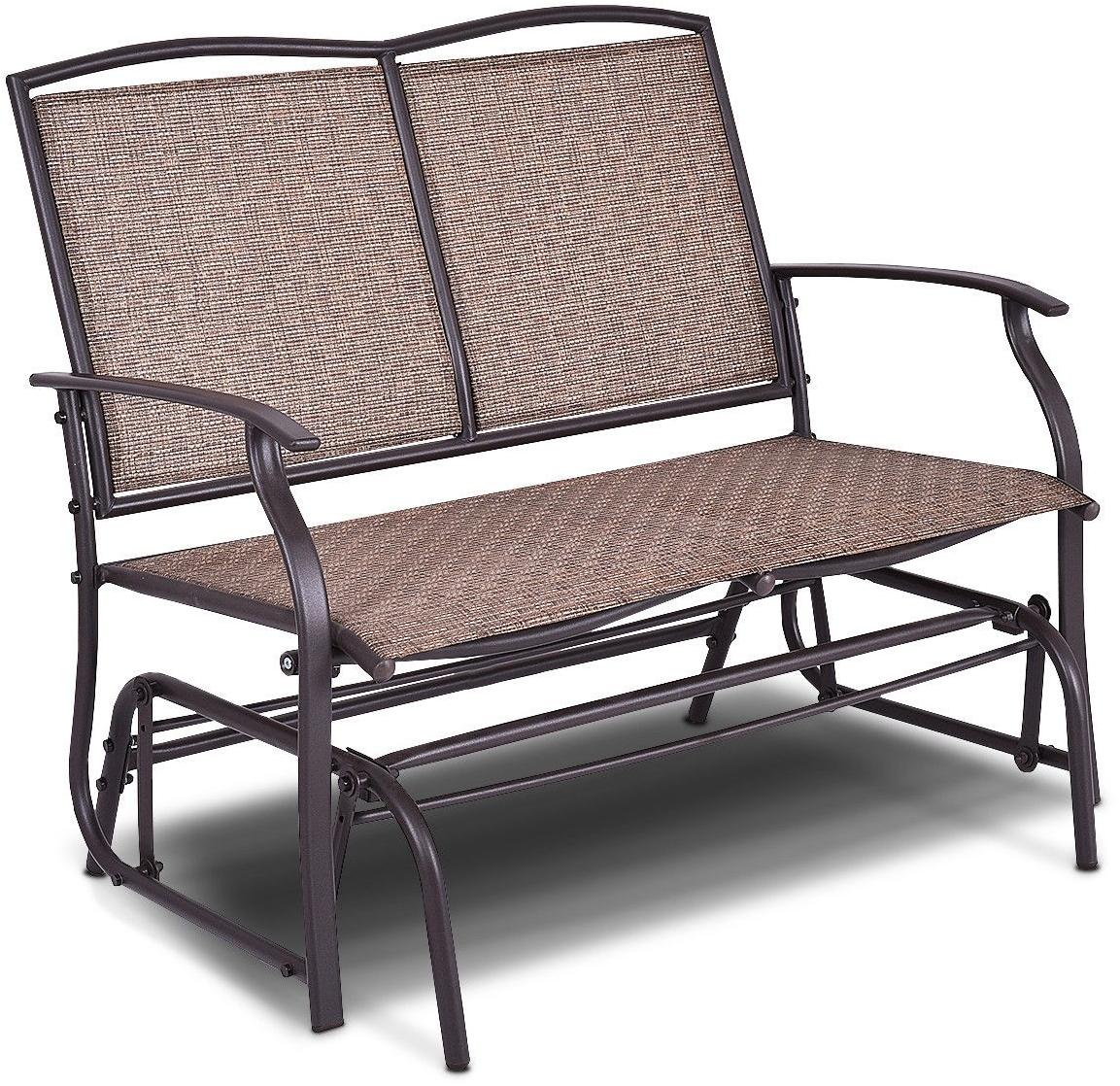 Details About Outdoor Swing Glider Chair Bench Garden Loveseat Backyard Garden Rocking Seat With Rocking Love Seats Glider Swing Benches With Sturdy Frame (View 4 of 25)