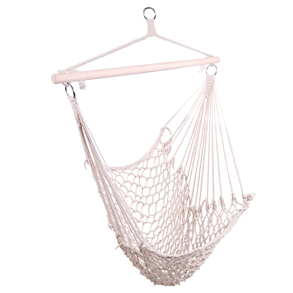 Details About Portable Hanging Rope Chair Porch Swing Yard Garden Patio Hammock Cotton Outdoor Inside Cotton Porch Swings (View 24 of 25)