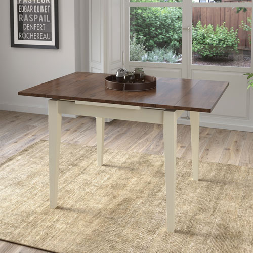 Dillon Contemporary 4 Seating Square Dining Table – Brown/cream With Regard To Contemporary 4 Seating Square Dining Tables (View 2 of 25)