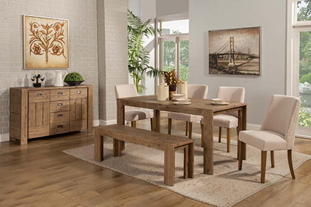 Dining Room Furniture In Hilo, Hi | Dining Room Tables Inside Transitional Driftwood Casual Dining Tables (View 23 of 25)