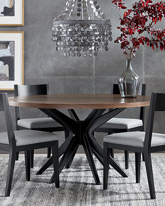 Dining Room Sets | Dining Room Furniture | Ethan Allen With Chrome Contemporary Square Casual Dining Tables (View 20 of 25)