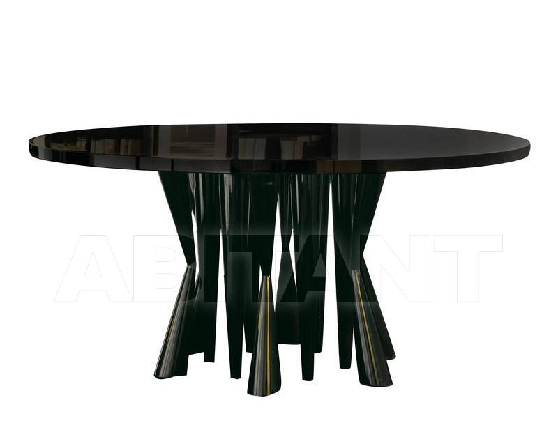 Dining Table Brown Dom Edizioni Robin Dinner Table Round With Regard To Dom Round Dining Tables (Image 7 of 25)