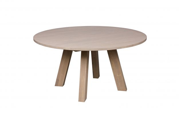 Dining Table Fumed Oak   Round   Ø 150 Intended For Fumed Oak Dining Tables (View 6 of 25)