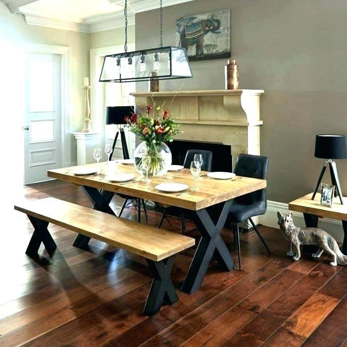 Dining Table Sets Bench Country Style Medium Set Tables Pertaining To Small Rustic Look Dining Tables (Image 4 of 25)